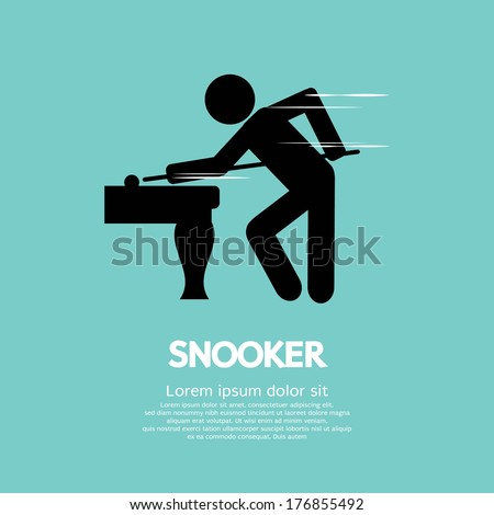 Snooker Player Vector Illustration - stock vector