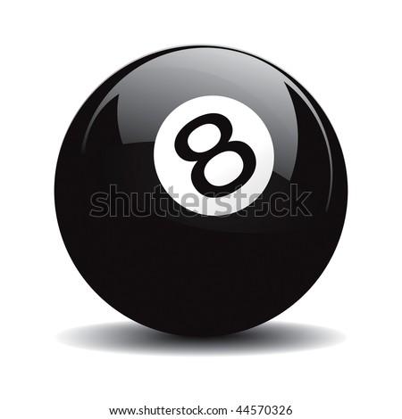 Snooker 8 pool vector drawing - stock vector