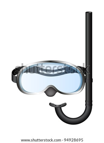 Snorkel and mask for diving - stock vector