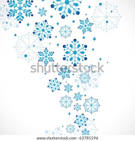 snow background, vector illustration - stock vector