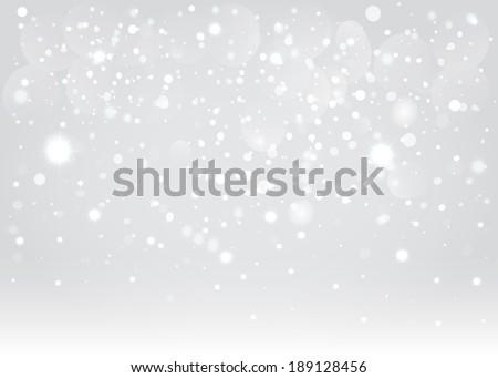 Snow bokeh background. Vector EPS10. - stock vector