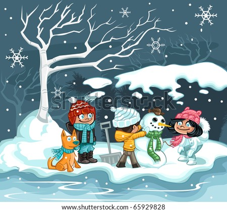 Snow Day - stock vector