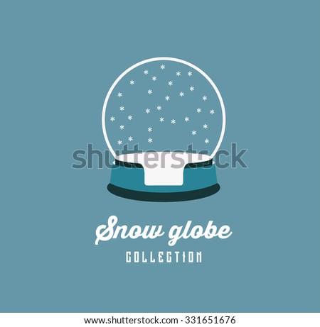 snow globe  - stock vector