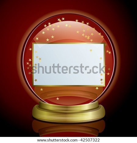 Snow Globe & Card - stock vector