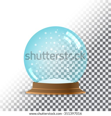 Snow globe. Transparent background. Vector illustration. EPS10