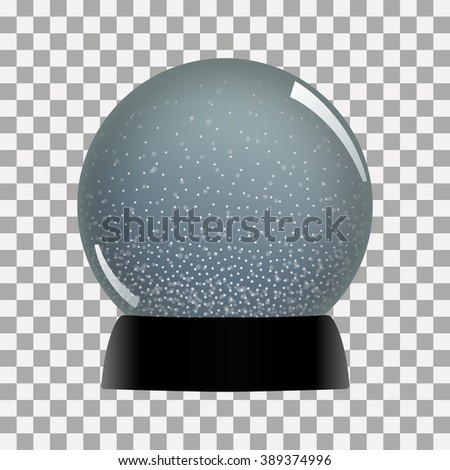 Snow globe vector winter transparent background  toy - stock vector