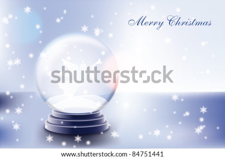 Snow globe with Christmas angel