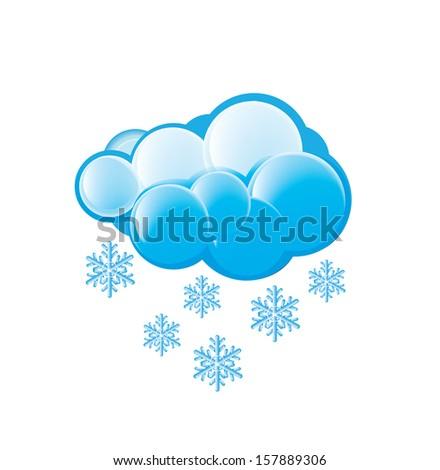Snow Icon - stock vector