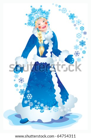 Snow Maiden - stock vector