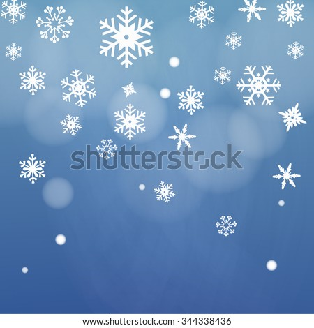 snow night background vector - stock vector