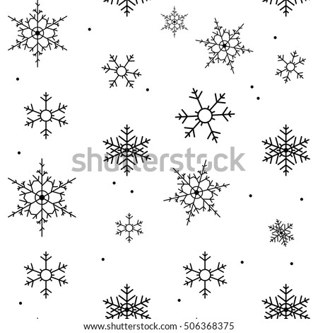 Snow background clipart black and white