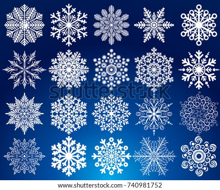 Snow Snowflake Collection