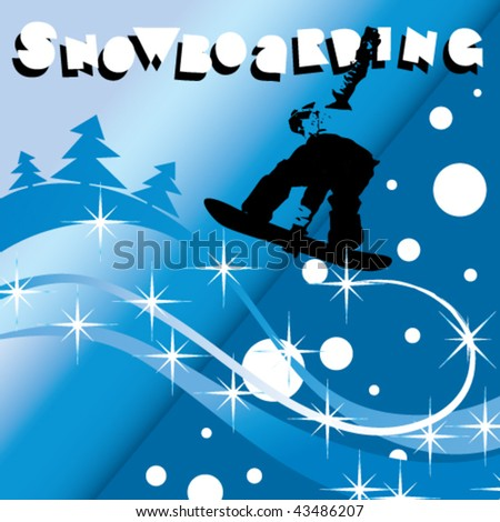 snowboarding - stock vector