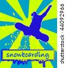 snowboarding vector - stock vector