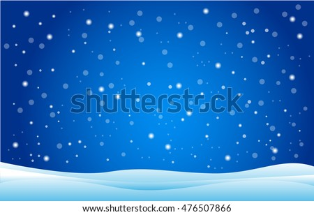 Snowfall and drifts. Vector illustration concept artwork