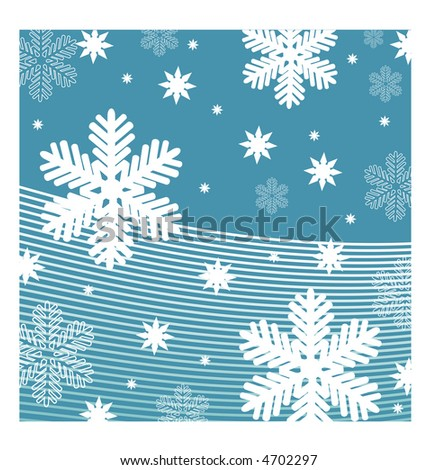 snowfall vector - stock vector