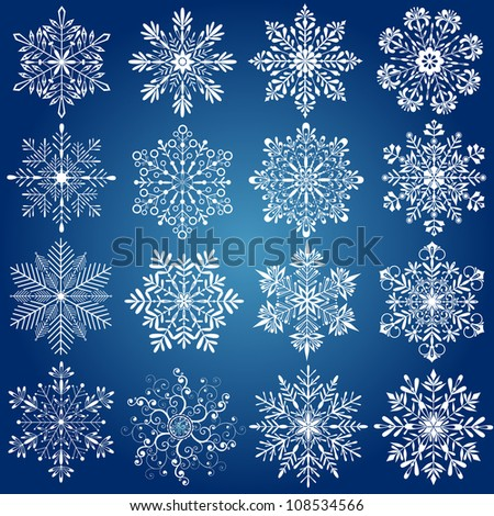 snowflake - stock vector