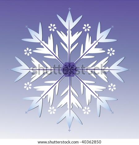 snowflake - stock vector
