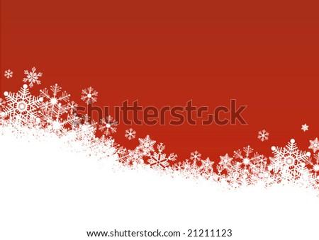 Snowflake background - stock vector