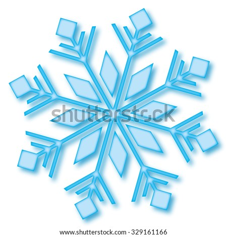 Snowflake Christmas - stock vector