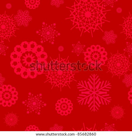 Snowflake christmas and new year seamless pattern vector illustration - stock vector