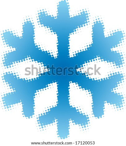 snowflake (dotted design series) - stock vector