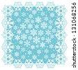 Snowflake frame. Frozen window. Winter Vector Set. - stock vector