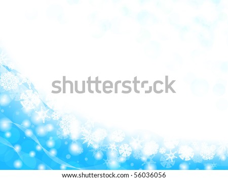 snowflake frame with copyspace for your text - stock vector