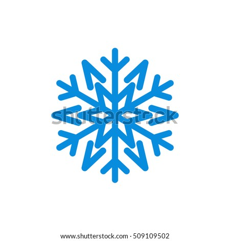 Snowflake Icon Blue Silhouette Snow Flake Stock Vector 509109502