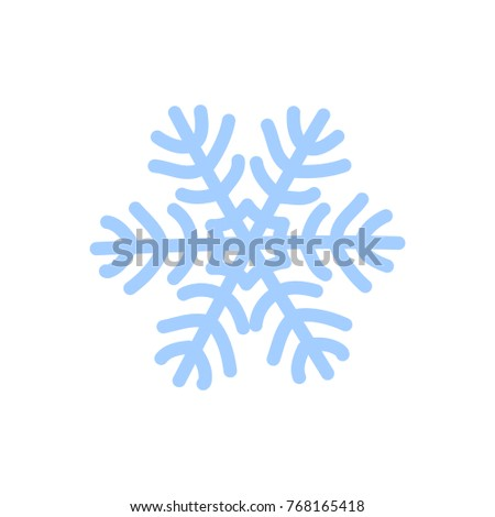 Snowflake Icon Blue Silhouette Snow Flake Stock Vector 768165418