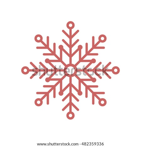 Snowflake    icon. Flat design.