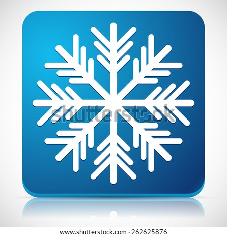 Snowflake Icon for Cold Weather or Cold Concepts - stock vector