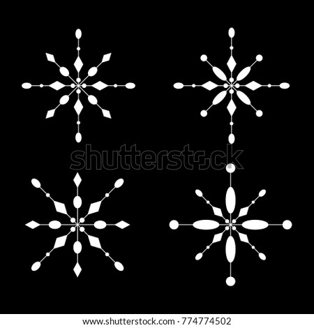 Snowflake Icon Symbol Winter Frozen Christmas Stock Vector 774774502