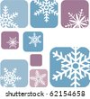 snowflake icons on blue and purple background-2 - stock