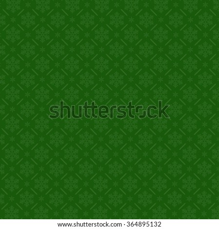 Snowflake pattern on green background. Christmas vector pattern design for backdrop, EPS10 Vector Illustration.