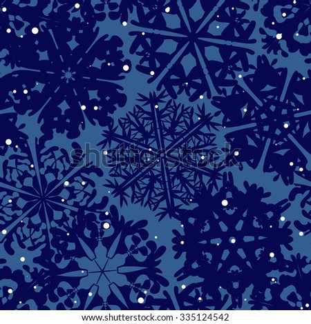 Snowflake Pattern. Snowflake vector texture. Christmas and new year concept - stock vector