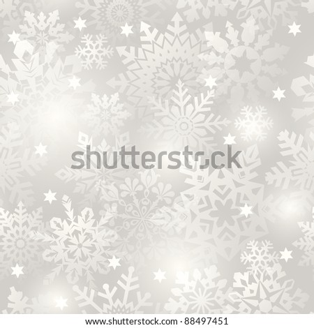 Snowflake seamless background - vector pattern for continuous replicate. See more seamlessly backgrounds in my portfolio. - stock vector
