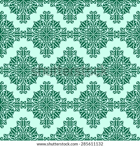 Snowflake seamless pattern for endless backgrounds, printings, Christmas and other creative designs.Editable vector.Eps 10 - stock vector