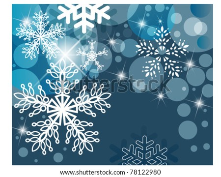 snowflake star background esp10 - stock vector