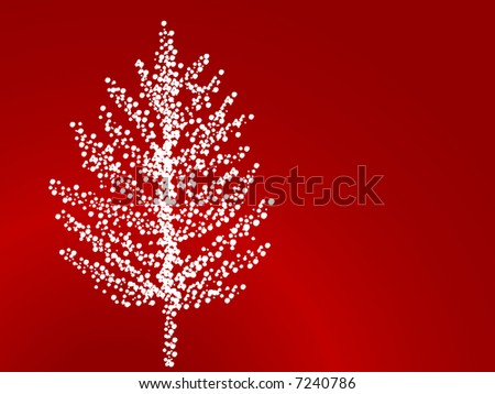 snowflake tree (rough edges on flakes) - stock vector