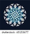 snowflake vector - stock vector