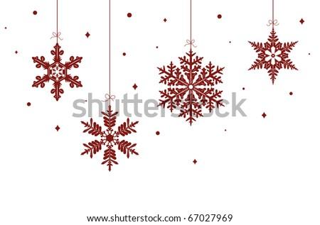 snowflake, vector - stock vector