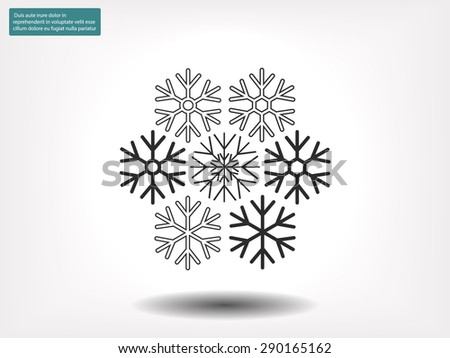 Snowflake  vector icon - stock vector