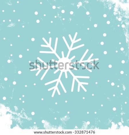 Snowflake winter background - stock vector