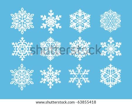 Snowflakes - stock vector