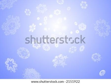 Snowflakes  Background - stock vector