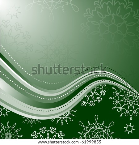 snowflakes background for winter and christmas theme - stock vector
