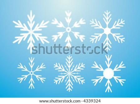 Snowflakes deign elements-vector - stock vector