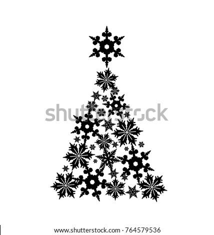 Hand Sketch Christmas Tree Vector Illustration Stock Vector 223737880 - Shutterstock