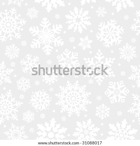 Snowflakes seamless background. (See more seamless backgrounds in my portfolio). - stock vector